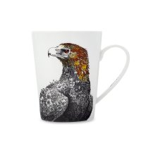 Кружка «орел», объем: 450 мл, материал: фарфор, цвет: белый, декор, серия
