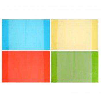 Набор обложек для тетрадей 4 штуки- 4 цвета, размер 355*213мм, плотность 2