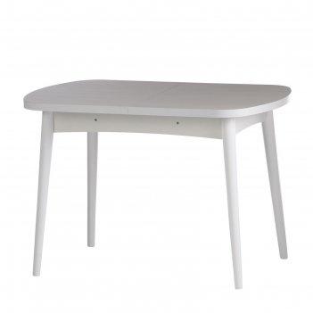 Стол раскладной ялта-1 1100/1420х700х750 анкор светлый/ белый /опоры масси