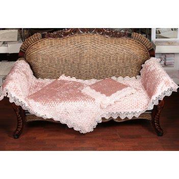 Комплект:накидка на диван 210*70 см.-1шт, кресло15...код