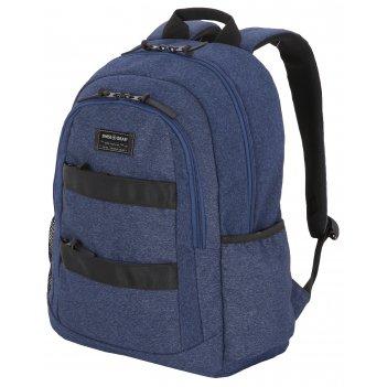 Рюкзак swissgear 15,6, синий, heather, 35,5 x 17 x 47 см, 27 л