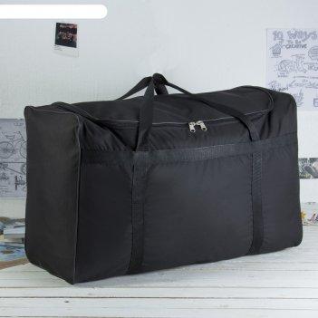 5002 п-600 сумка дорожная 78*35*50, отд на молнии, ремень, черный