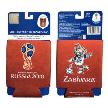 Fifa-2018 термочехол из неопрена 3 мм для банки бутылки 0,33 л. картонный
