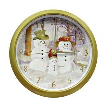 Настенные часы la mer gc 010-1 (снеговики)