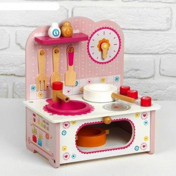Игровой набор маленькая кухонька посуда в наборе 28,5х9х32 см