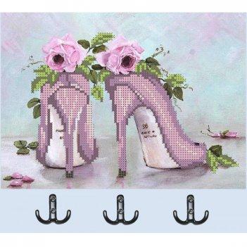 """Рисунок для вышивания бисером """"ключница туфли"""""""