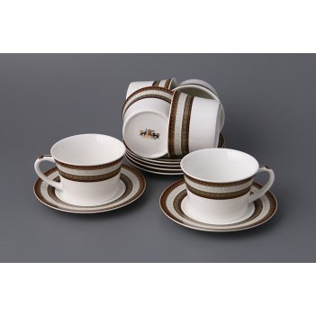 Кофейный набор на 6 персон 12 пр. леонардо 180 мл. (кор=12набор.)