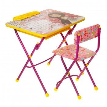 Набор детской мебели никки. маленькая принцесса складной, цвета стула микс