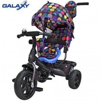 3-х колесный велосипед galaxy лучик vivat дизайн круги