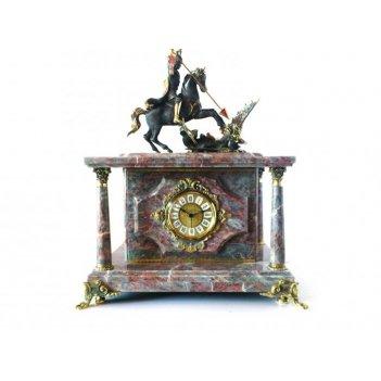 Часы-сейф из мрамора георгий-победоносец