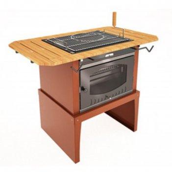 Гриль suomi grill table, двухсторонняя решётка-гриль, держатель полка, 128