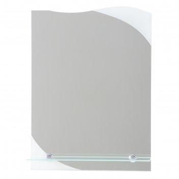 Зеркало, настенное, с пескоструйной графикой, с полочкой, 40x55 см