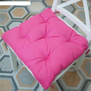 Подушка на стул, размер 45 x 45 см, цвет чайная роза