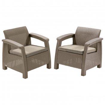Комплект садовой мебели (2 кресла)   yalta duo   цвет венге