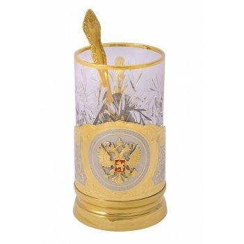 Подстаканник  герб россии (объемный герб)  златоуст