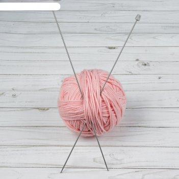 Спицы для вязания, прямые, d = 2,5 мм, 35 см, 2 шт