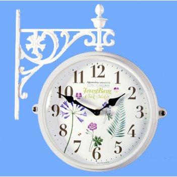 Настенные часы на подвесе b&s m195 wh-f10