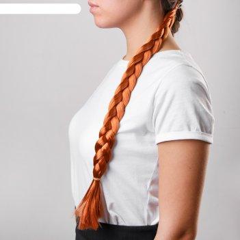Коса на резинке русая, длина 47 см