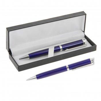 Ручка шариковая подарочная в кожзам футляре поворотная экспрессо