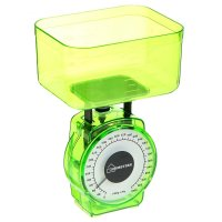 Весы кухонные механические homestar hs-3004м, до 1 кг, чаша 0.4 л, зеленые