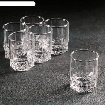 Набор стопок для водки вальс 6 шт 65 мл