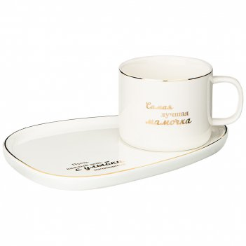 Чайный набор lefard мамочке на 1 персону, белый, 200мл