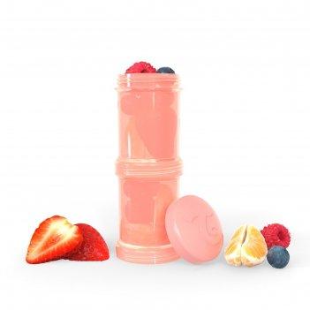 Контейнер для сухой смеси twistshake, цвет пастельный персиковый, 100 мл,