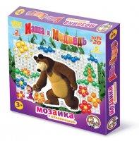 Мозаика десятое королевство 01420 маша и медведь с аппликациями 105 эл.