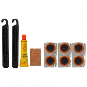 Аптечка для ремонта вело камер yc-129а заплатки,клей,монтажки