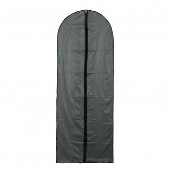 Чехол для одежды плотный 60x160 см, peva, цвет серый
