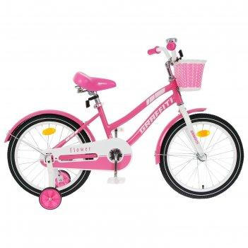Велосипед 20 graffiti flower, цвет розовый/белый