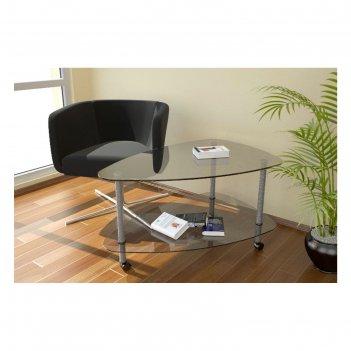 Стол журнальный капля стекло, 930х605х530 мм, №94, прозрачный
