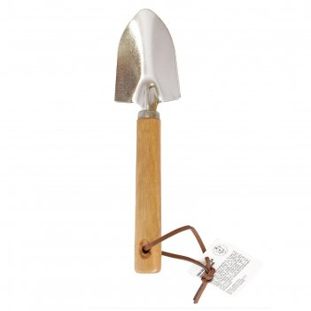 Совок посадочный, длина 18,5 см, ширина 7 см, деревянная рукоять