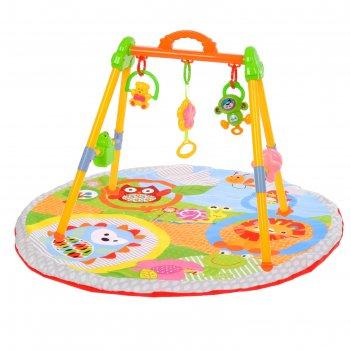 Развивающий коврик с игровой стойкой «ёжик и компания» с музыкальной игруш