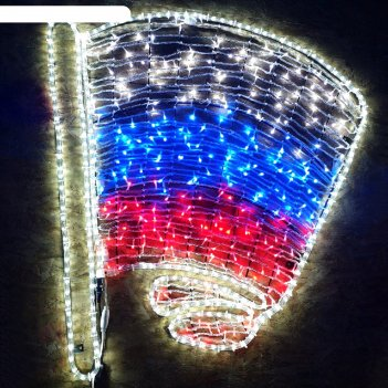 Светодиодное панно флаг на древко, 1000 х 950 х 30 мм, 100 вт