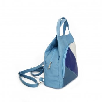 Cумка-рюкзак женская tiburon, небесно-голубой, белый, серо-синий