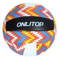 Мяч волейбольный onlitop v5-22 р.5 18 панелей, pvc, 2 под. слоя, машин. сш