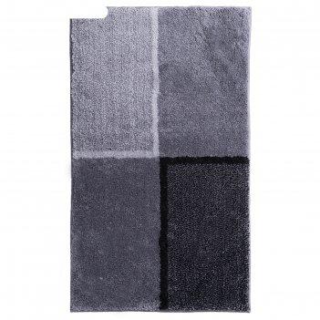 Коврик для ванной комнаты penny, цвет серый, 60х100 см