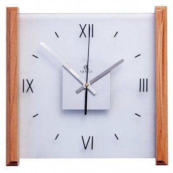 Настенные часы e-02  тик 330х330х30 мм