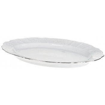 Блюдо овальное 39 см bernadotte,  декор деколь,  отводка платина