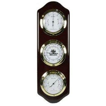 Метеостанция brigant: барометр, термометр, гигрометр 15*46см