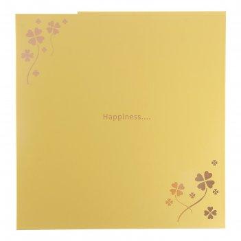 Фотоальбом магнитный 20 листов счастливые моменты золото микс 29,5х27х3 см