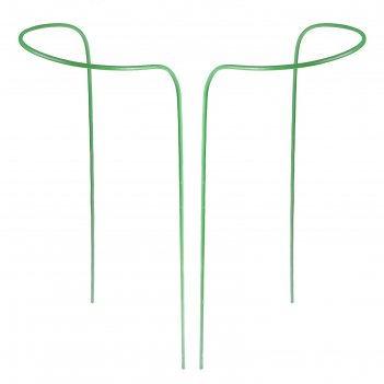Кустодержатель, d = 30 см, h = 120 см, ножка d = 1 см, металл, набор 2 шт.