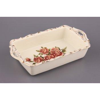 Блюдо шубница корейская роза 28*15*6 см.