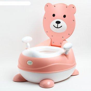 Горшок мишка, цвет розовый