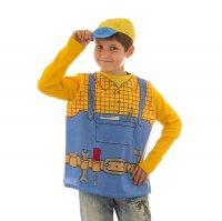 Карнавальный костюм строитель 2 предмета: жилетка, кепка, 7-9 лет, рост 12