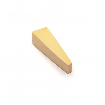 Спонж для макияжа tnl, треугольный узкий, цвет бежевый