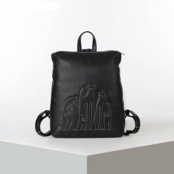 Рюкзак 1307v, 30*10*36,отд на молнии, кошки на черном