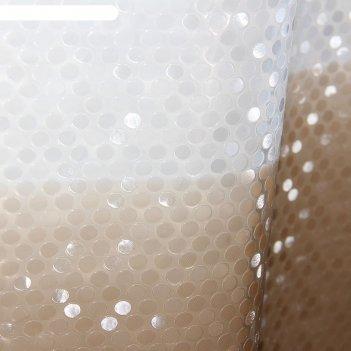 Штора для ванной 180x180 см диско 3d, eva, цвет коричневый