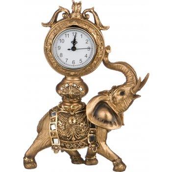 Часы настольные кварцевые слон 23,5*10*32см (кор=6шт.)